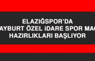 Elazığspor'da Bayburt ÖİS Maçı Hazırlıkları...
