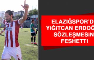 Elazığspor'da Yiğitcan Erdoğan, Sözleşmesini...