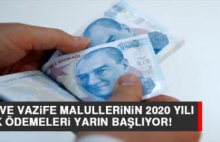 Harp ve Vazife Malullerinin 2020 Yılı Ek Ödemeleri...