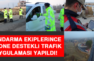 Jandarma Ekiplerince Drone Destekli Trafik Uygulaması...