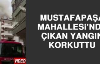 Mustafapaşa Mahallesi'nde Çıkan Yangın Korkuttu