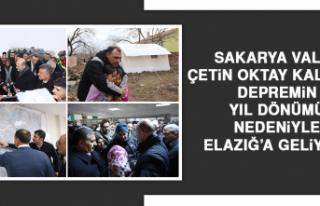 Sakarya Valisi Çetin Oktay Kaldırım, Depremin Yıl...
