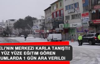 Tunceli'nin Merkezi Karla Tanıştı, Yüz Yüze...