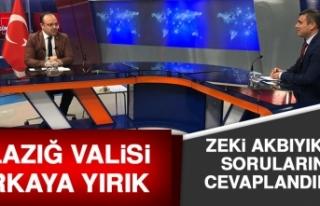 Vali Erkaya Yırık, Kanal Fırat Canlı Yayınına...
