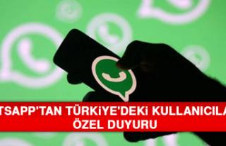 WhatsApp'tan Türkiye'deki Kullanıcılarına...