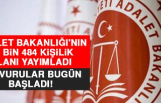 Adalet Bakanlığı'nın 11 Bin 484 Kişilik...