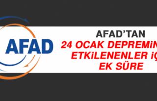 AFAD'tan 24 Ocak Depreminden Etkilenenler İçin...