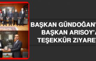 Başkan Gündoğan'dan Başkan Arısoy'a Teşekkür...