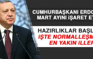 Cumhurbaşkanı Erdoğan Mart Ayını İşaret Etti!