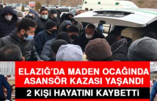 Elazığ'da Maden Ocağında Asansör Kazası:...