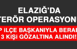 Elazığ'da Terör Operasyonu, 1'i HDP İlçe...