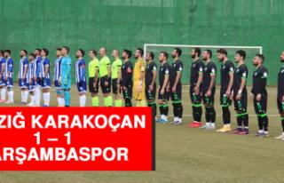 Elazığ Karakoçan 1 – 1 Çarşambaspor