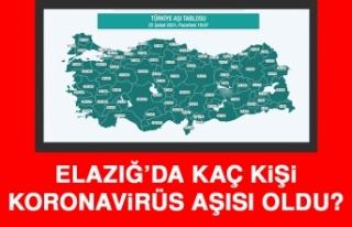 Elazığ'da Kaç Kişi Koronavirüs Aşısı Oldu?