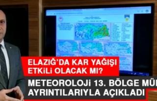 Elazığ'da Kar Yağışı Etkili Olacak mı?