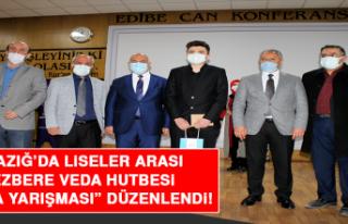 """Elazığ'da Liseler Arası """"Ezbere Veda Hutbesi..."""