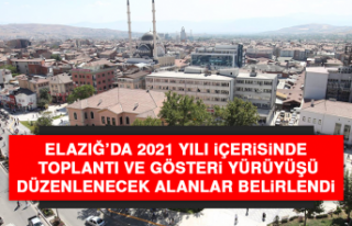 Elazığ'da Toplantı ve Gösteri Yürüyüşü...