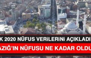 Elazığ'ın 2020 Yılı Nüfusu Belli Oldu!