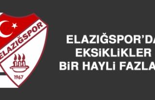 Elazığspor'da eksiklikler bir hayli fazla…