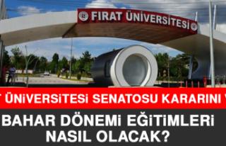 FIRAT ÜNİVERSİTESİ'NDE BAHAR DÖNEMİ EĞİTİMLERİ...