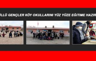 Gönüllü Gençler Köy Okullarını Yüz Yüze Eğitime...