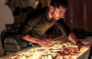 İdlibli sanatçı, Suriyeli sivillerin acılarını...