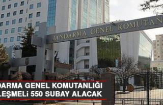 Jandarma Genel Komutanlığı Sözleşmeli 550 Subay...