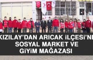 Kızılay'dan Arıcak İlçesi'ne Sosyal Market...