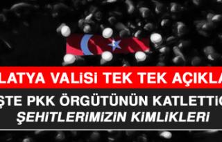 Malatya Valisi Tek Tek Açıkladı! İşte PKK Örgütünün...