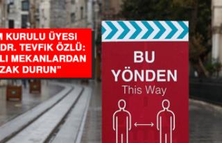 """Prof. Dr. Tevfik Özlü: """"Kapalı mekanlardan uzak..."""