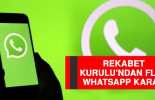Rekabet Kurulu'ndan Flaş Whatsapp Kararı