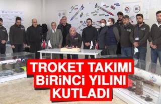 Troket Takımı Birinci Yılını Kutladı