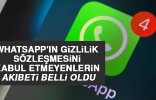Whatsapp'ın Gizlilik Sözleşmesini Kabul Etmeyenlerin...