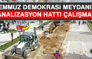 15 Temmuz Demokrasi Meydanı'nda Kanalizasyon Hattı...