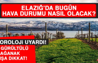 23 Mart'ta Elazığ'da Hava Durumu Nasıl Olacak?