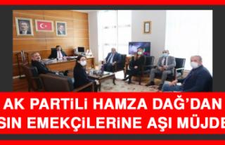 AK Partili Hamza Dağ'dan Basın Emekçilerine Aşı...