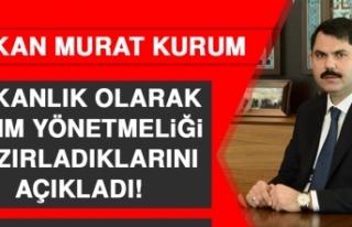 Bakan Murat Kurum, Bakanlık Olarak Yıkım Yönetmeliği...