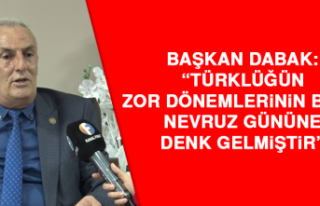 """Başkan Dabak: """"Türklüğün zor dönemlerinin..."""