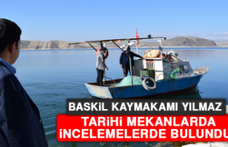 Baskil Kaymakamı Yılmaz, Tarihi Mekanlarda İncelemelerde...