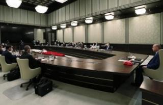 Cumhurbaşkanlığı Kabinesi Beştepe'te toplandı