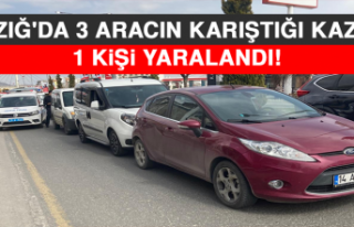 Elazığ'da 3 Aracın Karıştığı Kazada 1...