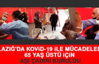 Elazığ'da Kovid-19 İle Mücadelede 65 Yaş...