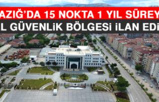 Elazığ'da 15 Nokta 1 Yıl Süreyle Özel Güvenlik...