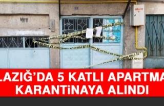 Elazığ'da 5 Katlı Apartman Karantinaya Alındı