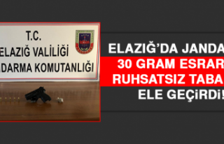 Elazığ'da Jandarma Esrar ve Ruhsatsız Tabanca...