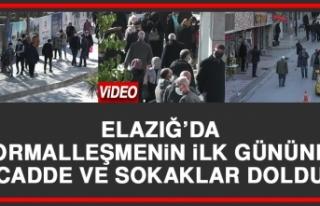 Elazığ'da Normalleşmenin İlk Gününde Cadde...