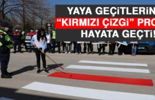 """Elazığ'da Yaya Geçitlerinde """"Kırmızı..."""