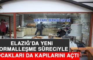 Elazığ'da Yeni Normalleşme Süreciyle Çay Ocakları...