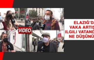 Elazığ'daki Vaka Artışıyla İlgili Vatandaşlar...
