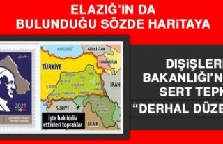 Elazığ'ın da Bulunduğu Sözde Haritaya Dışişleri...