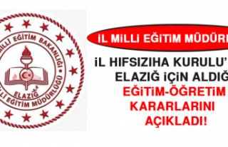 İl Milli Eğitim Müdürlüğü İl Hıfsızıha...